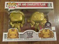 Funko Pop! WWE Ric and Charlotte Flair 2 Pack Target Exclusive Brand New NIB Ltd