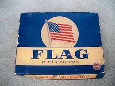 Vintage United States US 50 Star Nylon & Wool Bunting Nylanin Size 3' X 5' Flag