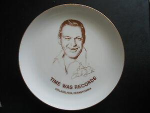 RARE 1970's FRANK SINATRA Collector Plate from TIME WAS RECORDS - Philadelphia