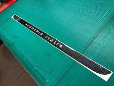 Fiat 595 500 Abarth Carbon Scuderia Italia Hatch Decals Stickers GLITTER BLACK