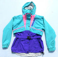 Vintage Womens NORTH FACE 90s Hooded Goretex Ski Snowboard Jacket sz 12 Large