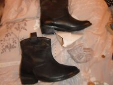 New Size 3 1/2 (36) La Redoute Creation Black Leather Ankle Boots.