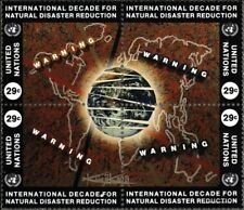 UNO - New York 671-674 Viererblock (kompl.Ausg.) gestempelt 1994 Naturkatastroph