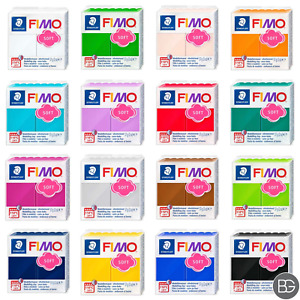 Staedtler Fimo Soft Polymer Modelling Clay 57g Blocks, Choose Your Colours 25+