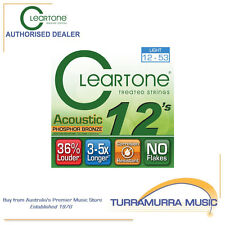 Cleartone Treated Phosphor Bronze Light Acoustic Guitar Strings 12's