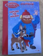 Rudolph The Red-Nosed Reindeer Jumbo Coloring & Activity Book Explore Holiday