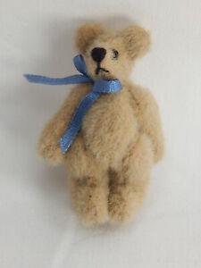 "World of Miniature Bears By Theresa Yang 1.25"" Plush Bear Beige #110 CLOSING"
