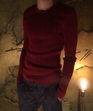 BN DOLCE & GABBANA Silk Crewneck Ribbed Sweater Top Size IT 46 RRP £780