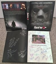 Friday the 13th Signed x34 Crystal Lake Memories Book prop statue jason voorhees