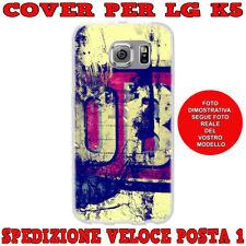 CUSTODIA COVER GOMMA IN TPU SILICONE PER LG K5 X220 FANTASIA STILE VINTAGE