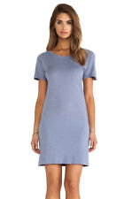 Monrow Slub Cotton Modal T-Shirt Dress (in Denim blue) XS