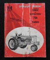 1965 INTERNATIONAL HARVESTER McCORMICK FARMALL 706 TRACTOR OPERATORS MANUAL