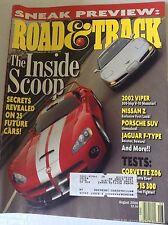 Road & Track Magazine 2002 Viper Nissan Z Porsche August 2000 081817nonrh2