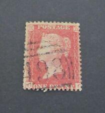 GB QV 1854-57, 1d RED Used, Perf 16,  Letters Please Look at Photos  Ref: 006