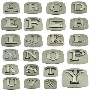 Initial Belt Buckles Texas A B C F Z J K L M N O R T V Letter Monogram Alphabet