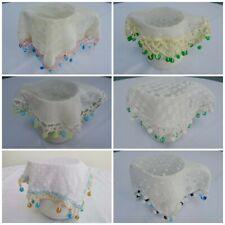 More details for antique jug cover vintage crochet lace net milk cream sugar bowl beaded bead