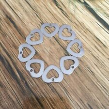 10pcs/lot 16x13.8mm Silver Tone 316L Stainless Steel Heart Pendant Charms