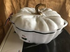NEW Staub Cast-Iron White Pumpkin 5 QT Cocette Dutch Oven Pot - New In Box!