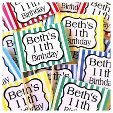 24 x Personalised Cup Cake Toppers Picks 18th 21st 30th 40th 50th Birthday