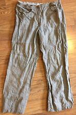 Maria Di Ripabianca 8 100% Linen Made In Italy Tan Lightweight Pants