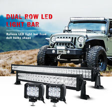 "52Inch 700W CREE LED Light Bar +22in +4"" CREE PODS OFFROAD SUV 4WD FORD JEEP ATV"