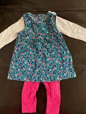 Vestido Carter's de 6 meses de bebé Cuerpo Suit Leggings Flower Power