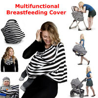 5 in 1 Nursing Breastfeeding Feeding Cover Scarf Baby Car Seat Canopy Shawl  *