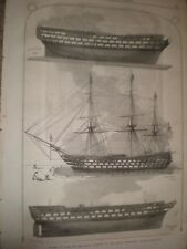 Model ships South Kensington Museum Caledonia Queen Agamemnon 1865 print ref E