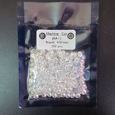 Cubic Zirconia CZ Clear ROUND CUT 4mm 250pcs Premium Grade Loose GEMS STONES