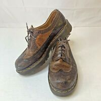 Dr. Martens Bex Smooth Leather Brogue Wingtip Oxford Shoes Brown Size 7 3989 34