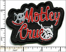 20 Pcs Embroidered Iron/Sew on patches Motley Crue Music AP056mM