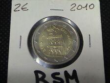 SAN MARINO 2010 MONETA da 2 EURO FDC da SET UFFICIALE o MINIKIT fornita in OBLO'