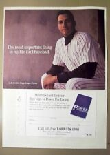 ANDY PETITE - 1999 advertisement - Christianity God book - NY Yankees pitcher