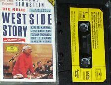 BERNSTEIN WEST SIDE STORY KANAWA CARRERAS CASSETTE DG die neue West Side Story