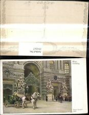 284267,Künstler Ak Ernst Graner Wien Hofburg Kutsche Soldat a. Pferd pub B.K.W.I