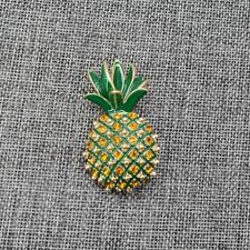 Exquisite Crystals Pineapple Gold Pin Women's Brooch