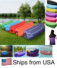 Inflatable Lazy Couch Chair Camping Beach Air Cushion Pouch