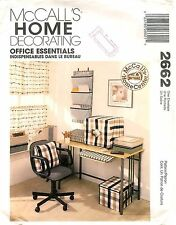 McCalls 2662 Sewing Pattern Office Essential Home Decorating FactoryFolded Uncut