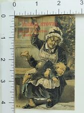 Peoria Stoves Culter & Proctor Angry Mom Spanking Boy With Shoe Comical F64