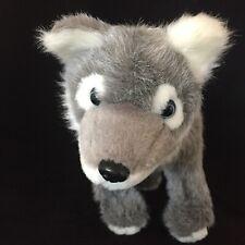 The Petting Zoo Wolf Plush Gray White Standing Stuffed Animal Toy 1994