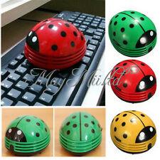 Durable Beetle Ladybug cartoon Mini Desktop Vacuum Desk Portable Dust Cleaner @