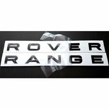 "Gloss Black ""Range Rover"" Letters Hood Trunk Tailgate Emblem Badge Nameplate"