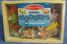 Toys Melissa and Doug New 20 piece Wooden Animal Magnets