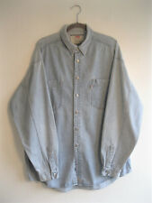 LEVI'S | Men's RETRO Blue Wash Denim WORKWEAR Shirt Loose Fit Metal Buttons | L