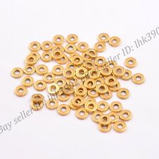 6/8MM Tibetan Silver/Gold/Bronze Rings Spacer Beads 100Pcs DB3036