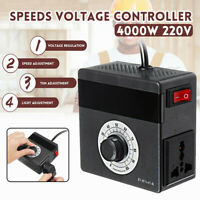 AC 220V 4000W Variable Voltage Controller for Light Fan Speeds TEM Motor Dimmer