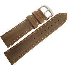 22mm Hirsch Heritage 1765 Golden Brown Made in Austria Leather Watch Band Strap