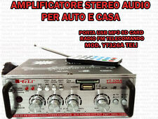 Amplificatore Stereo Audio Auto Casa USB Mp3 SD Card Radio FM YT 326 a