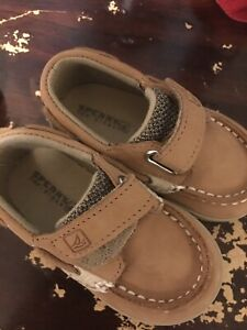 Sperries Toddler Size 3 Worn Once Tan Baby