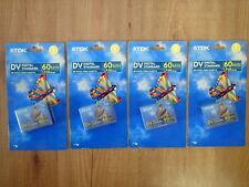 Video cassette TDK miniDV 60 min x 4 pz NUOVE SIGILLATE